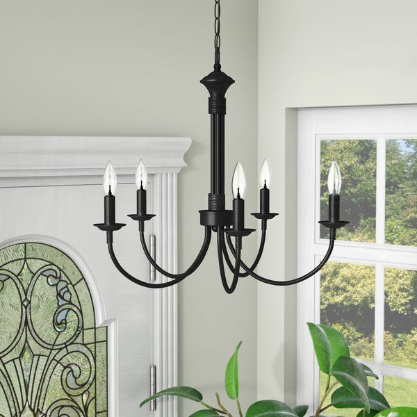 Shaylee 5-Light Candle Style Classic / Traditional Chandelier in .