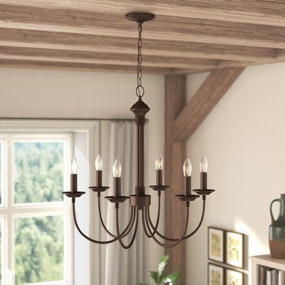 Laurel Foundry Modern Farmhouse Shaylee 6-Light Candle-Style .