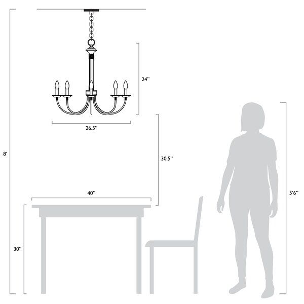 Shaylee 8 - Light Candle Style Empire Chandelier | Chandelier .