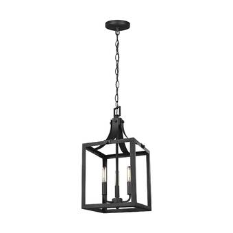 Gracie Oaks Sherri-Ann 3 - Light Lantern Square Pendant & Reviews .