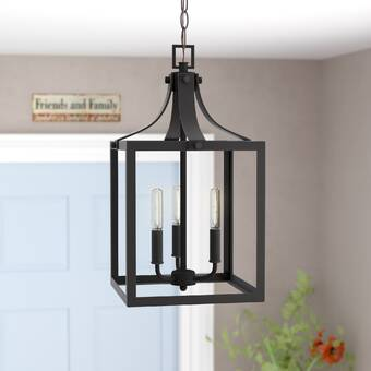 Gracie Oaks Sherri-Ann 3 - Light Lantern Geometric Pendant .