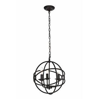 La Barge 3 - Light Lantern Globe Chandelier & Reviews | Joss & Ma