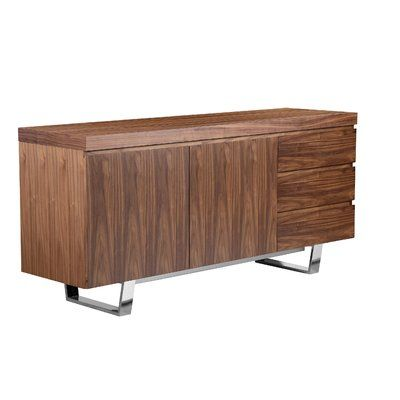 Mercury Row Sienna Sideboard Colour: Walnut | Sideboard .