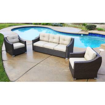 Brayden Studio Hasan Standard Patio Sofa with Cushion | Wayfa