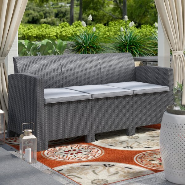 Andover Mills Yoselin Patio Sofa with Cushions & Reviews | Wayfa