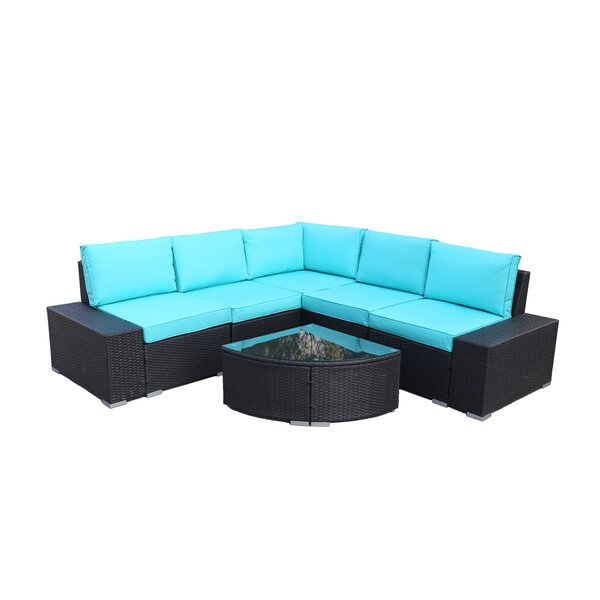 Latitude Run Adamek Patio Sectional with Cushion | Wayfa