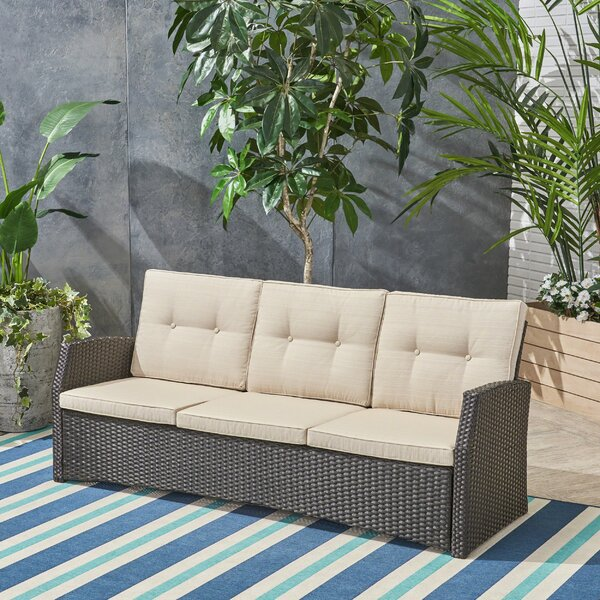 Rosecliff Heights Loganville Patio Sofa with Cushions & Reviews .