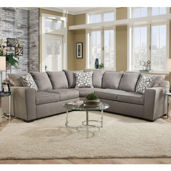 Simmons 9073 Sectional Sofa Venture Smoke | Hope Home Furnishings .