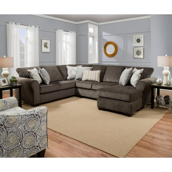 Shop Simmons Upholstery Napoleon Sectional Sofa - Overstock - 224383