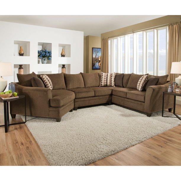 Simmons Upholstery Albany Sectional Sofa - Walmart.com - Walmart.c