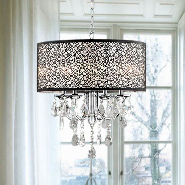 Sinead 4-Light Chandelier | Chandelier shades, Indoor chandelier .