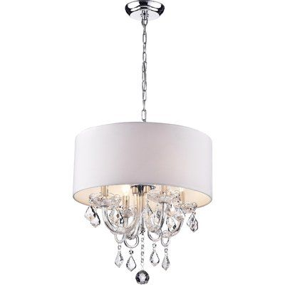 Sinead 4 - Light Chandelier in 2020 | Drum chandelier, Chandelier .