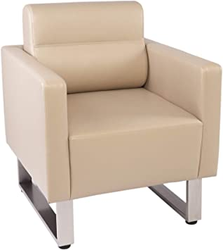 Amazon.com: LuckyerMore Barrel Chair Lobby Chair Leather .