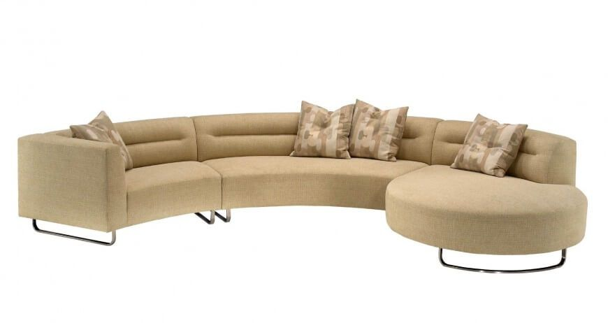 25 Contemporary Curved and Round Sectional Sofas | Sectional sofa .
