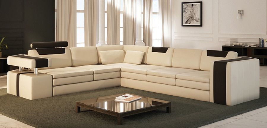 Vista Modern Italian Design Leather Sectional Sofa CP-90