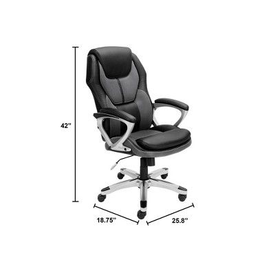 Works Executive Office Chair Opportunity Gray - Serta | Executive .
