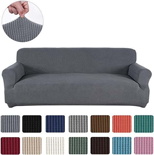 Amazon.com: Obstal Stretch Spandex Sofa Cover, 3 Seat Couch Covers .