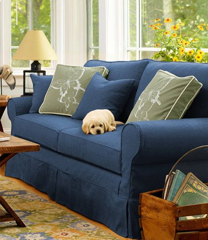 Pine Point Slipcovered Sofa | Slipcovered sofa, Slipcovers, Blue .