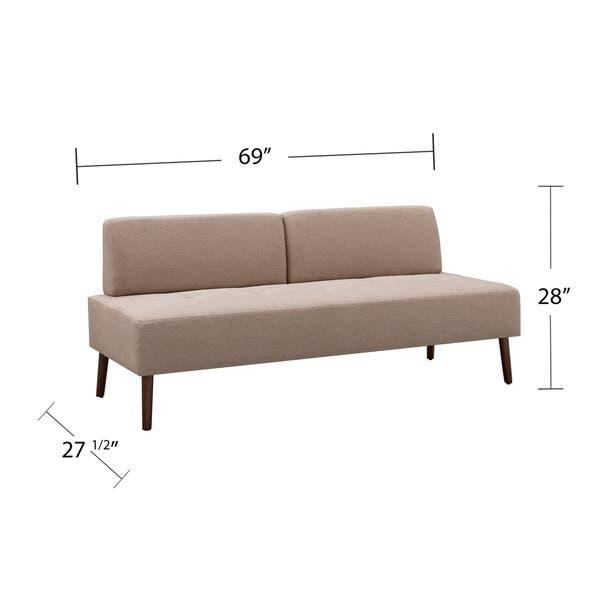 Shop Carson Carrington Liepaja Small Armless Sofa - Overstock .
