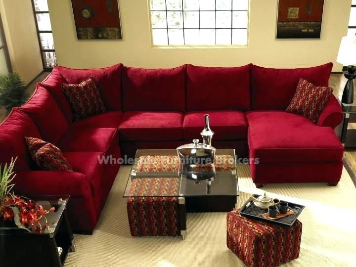 Fabulous Red Leather Sectional Couch Red Sofa Sectional The Red .