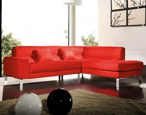 18 Stylish Modern Red Sectional Sof