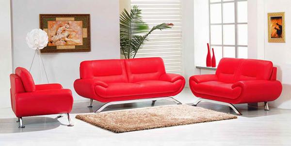 20 Ravishing Red Leather Living Room Furniture | Home Design Lov