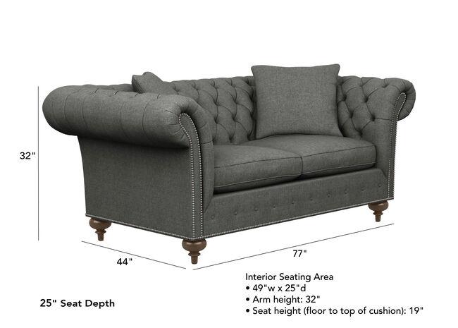"Mansfield Sofa, 22"" Seat Depth   Sofas & Loveseats   Ethan All"