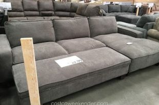 Chaise Sectional Sofa with Storage Ottoman | Deep sectional sofa .
