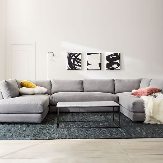 Haven U-Shaped Sectional | west elm | Small room design, U shaped .