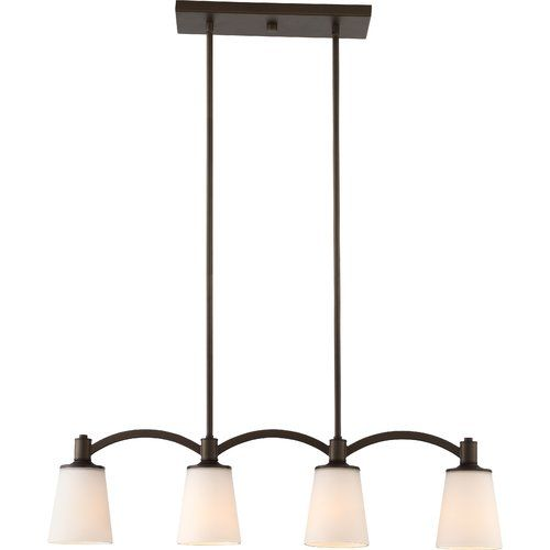 Smithville 4 - Light Kitchen Island Linear Pendant | Traditional .