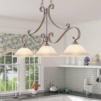 Smithville 4 - Light Kitchen Island Linear Pendant | Kitchen .