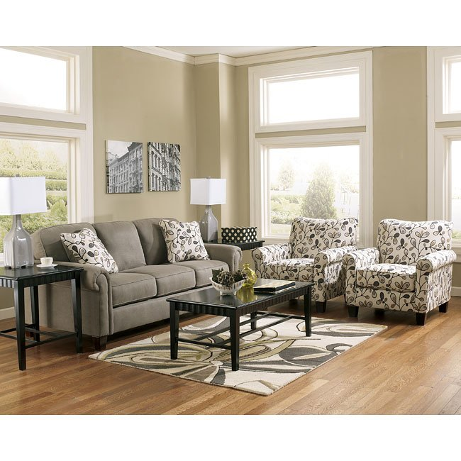 Gusti Dusk Sofa Set w/ Accent Chairs Signature Design by Ashley .