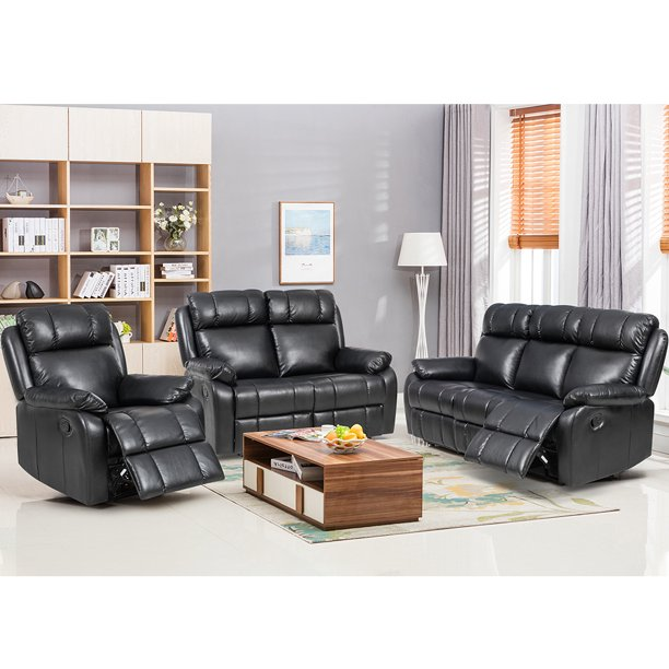 Loveseat Chaise Reclining Couch Recliner Sofa Chair Leather Accent .