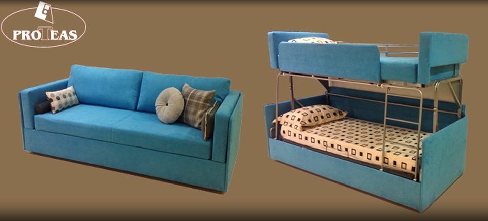 Twinny Couch Morphs into a Bunk Bed Within Secon