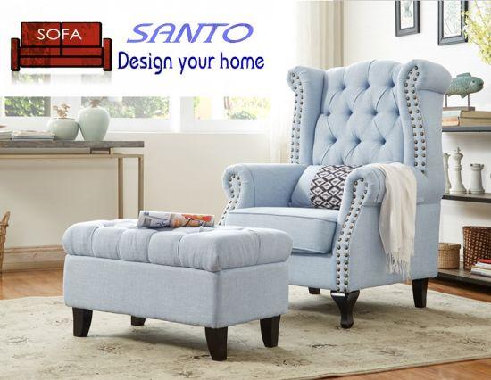 China Luxury Classic European Lounge Leather Living Room Furniture .