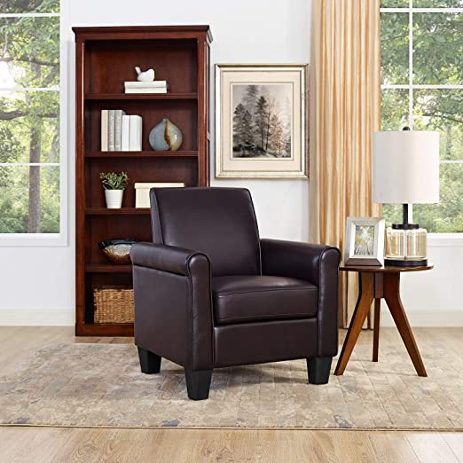 Amazon.com: Lohoms Modern Faux Leather Accent Chair Uplostered .