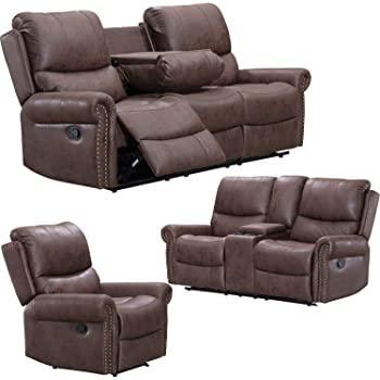 Amazon.com: Recliner Sofa for Living Room Set Reclining Couch Sofa .