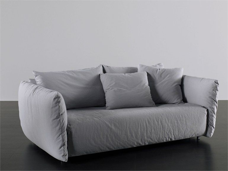Sofa bed with removable cover Scott Collection by Meridiani | Sofa .
