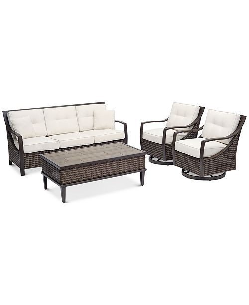 Furniture North Shore Outdoor 4-Pc. Seating Set (Sofa, 2 Swivel .