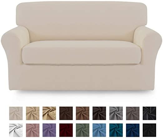 Amazon.com: Easy-Going 2 Pieces Microfiber Stretch Sofa Slipcover .