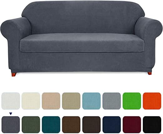 Amazon.com: subrtex Sofa Cover 2 Piece Stretch Couch Slipcovers .