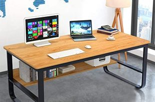 Amazon.com: Follure Modern Solid Wood Computer Desk,Large .