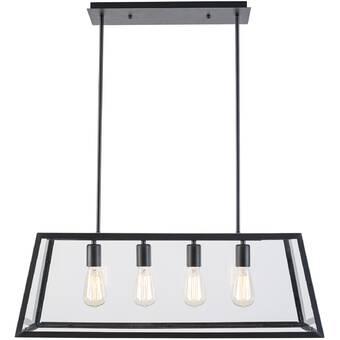 Mercury Row Shisler 8 - Light Kitchen Island Linear Pendant .