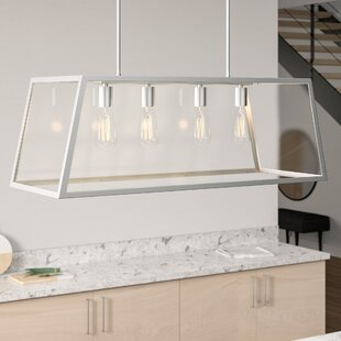Modern Kitchen Island Satin Nickel Pendant Lighting | AllMode
