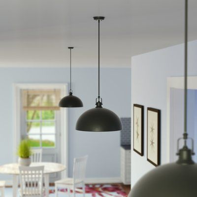 Beachcrest Home Southlake 1-Light Single Dome Pendant | Swag light .