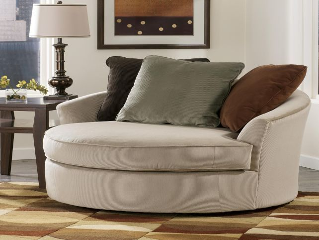 oversized round swivel lounge chair | Round sofa chair, Swivel .