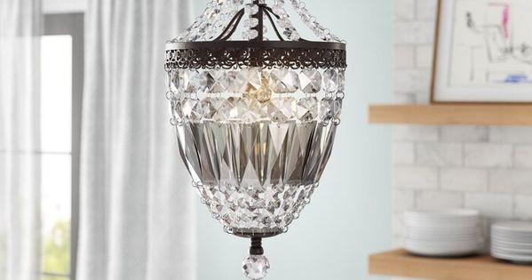 Carston 1-Light Crystal Pendant | bath ideas in 2019 | Pendant .