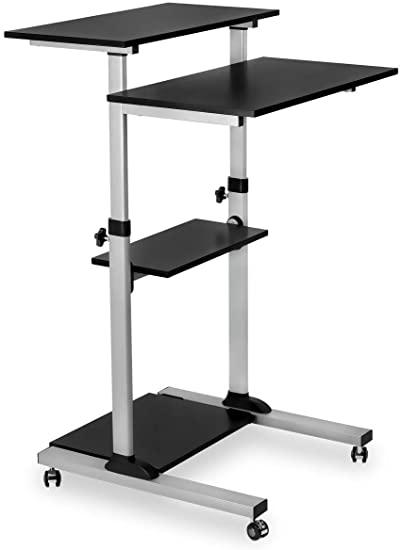 Amazon.com : Mount-It! Mobile Standing Desk/Height Adjustable .