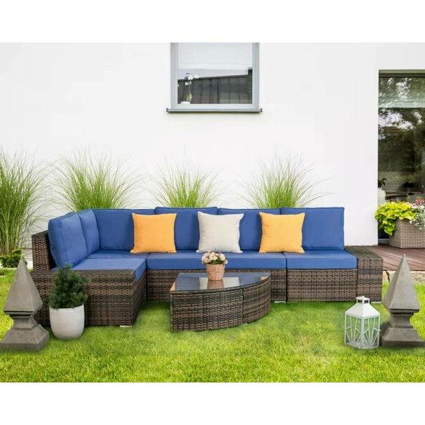 20 Photos Stapleton Wicker Resin Patio Sofas With Cushio