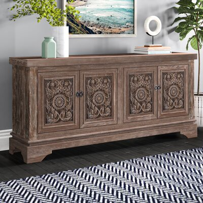 Kentshire Reclaimed Pine 4 Door Sideboard | Joss & Ma